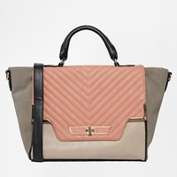 New Look Quilted Carly Winged Satchel at asos.com