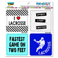 Lacrosse Player Fan Love MAG-NEATO'S TM Car-Refrigerator Magnet Set