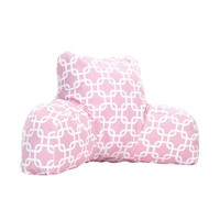 Printed Reading Pillow - Links - Soft Pink