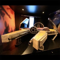 Deep Space Fighter Bed and Galaxy Mural