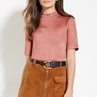 Contemporary Boxy Mock Neck Top