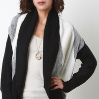 Striped Shawl Knit Cardigan
