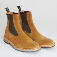 Tricker's Limited Edition Suede Chelsea Boot in Maraca Brown