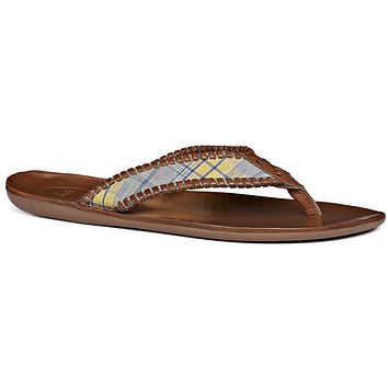 Men's Sullivan Sandal in Yellow Plaid by Jack Rogers - FINAL SALE