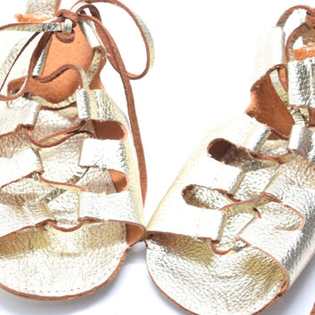Gladiators-Baby Leather Sandals