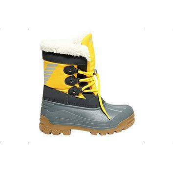 Boys Yellow Insulated Snow Boots