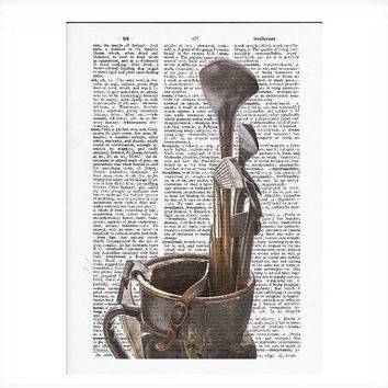 Vintage Dictionary Golf Bag Dictionary Art Print