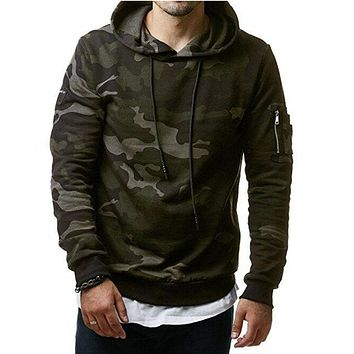 2017 New Mens Hoodies and Sweatshirts Zipper Hooded Sweatshirts Male Clothing Fashion Military Hoody For Men Printed Hoodies 3XL
