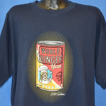 90s World Hunger Year Doonesbury t-shirt Extra Large