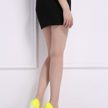 Shoes High Heels 12CM Yellow Shoes Woman