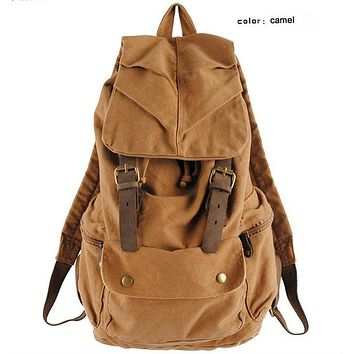 New Model Leather military Canvas backpack