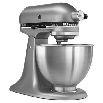 KITCHEN AID Tilt Head 4.5qt Stand Mixer in Silver