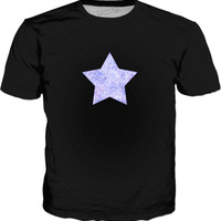 Lavender and white swirls doodles Star Classic T-Shirt Black