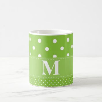 Lime Green Polka Dot Pattern Coffee Mug