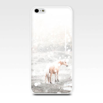 iphone 5s case winter iphone case horse iphone 4 4s 5 case snow iphone case horse in snow fine art iphone case 5 4 photography white pastel