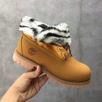 DCCKBE6 Timberland Rhubarb Boots 21694 Yellow Waterproof Martin Boots