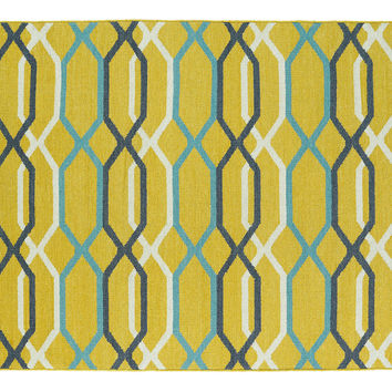 Chloe Flat-Weave Rug, Yellow, Area Rugs