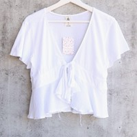 Free People Knot Me Tee - White