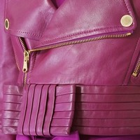 RED Valentino Cropped Leather Moto Jacket | SHOPBOP