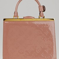 Louis Vuitton Rose Velours Monogram Vernis Deesse PM Bag
