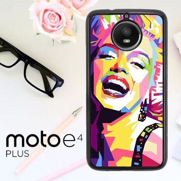 Andy Warhol Marilyn Monroe Pop Art Y0372 Motorola Moto E4 Plus Case