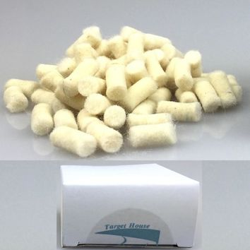 100 PCS .177 or .22 or .25 inch clean tampon / felt Cleaning cotton / cleaning kit Removes dirt from airlock barrel