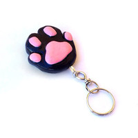 Cat Paw Keychain, Polymer Clay Cat Paw Keychain, Cat Lovers Gifts