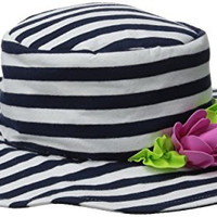 Kate Mack Baby Seaside Bliss Baby Swim Hat, Navy/White, 9-24 Months