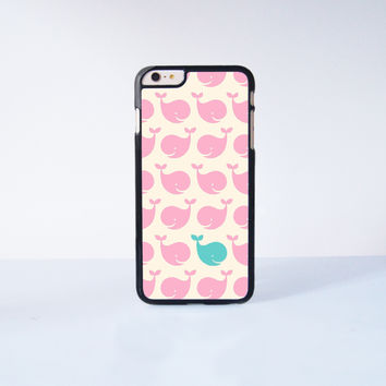 Pink Little Whale Plastic Case Cover for Apple iPhone 6 Plus 4 4s 5 5s 5c 6