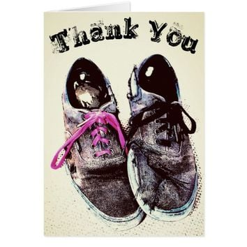 Thank You Torn Shoes Card