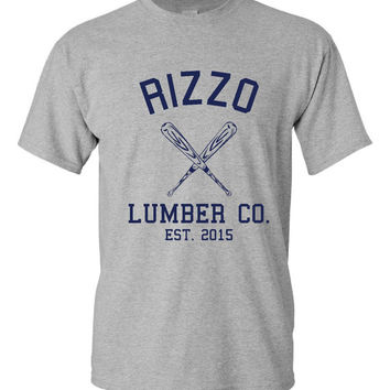 Rizzo Lumber Company T Shirt Chicago Baseball Fan T Shirt Chicago Northside Baseball Rizzo T Shirt ladies Mens kids Chicago Cubs Fan Tshirt
