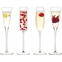 Set of four assorted Lulu champagne glasses