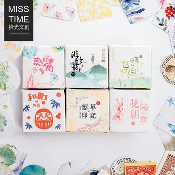 6 Designs Cute Sealing Sticker Japanese Kawaii Paper Stickers DIY Scrapbooking Diary Notebook Decoration 40pcs/pack