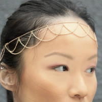 Bohemian headband,Bohemian Chain Headband, Adjustable Head Chains, Grecian headchain, Head jewelry, Wedding Headchain