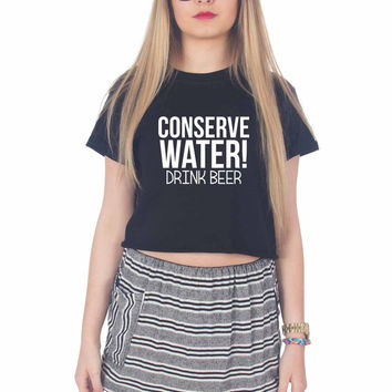 Beer Quotes For Womens Crop Shirt ***