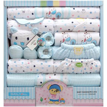 Newborn baby set Clothes cotton set Casual long sleeve 18 Pcs Unisex.