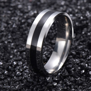 Vintage 18K White Gold Plated 316L stainless steel Ring Mens Jewelry for Women lord Wedding Band male ring for lovers G15