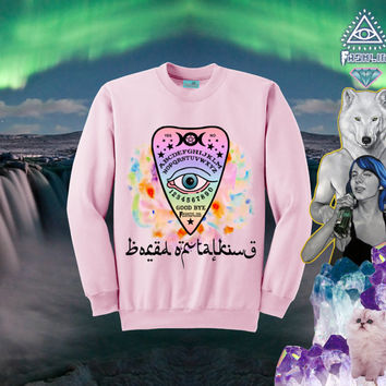 BORED OF TALKING Kawaii Ouija Board Planchette Sweatshirt // Pastel Goth Halloween // fASHLIN