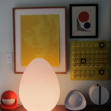 Monumental Vistosi Glass Egg Lamp Mid Century Italian Modern
