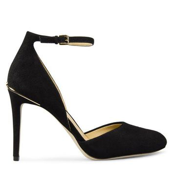 LMFON Michael Kors Georgia Heel Pump Women's - Black Suede