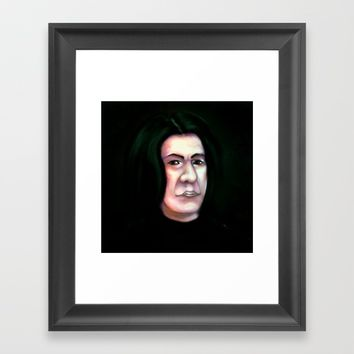 AllanRickman Framed Art Print by Moonlit Emporium