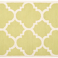 Carly Rug, Green/Ivory, Area Rugs