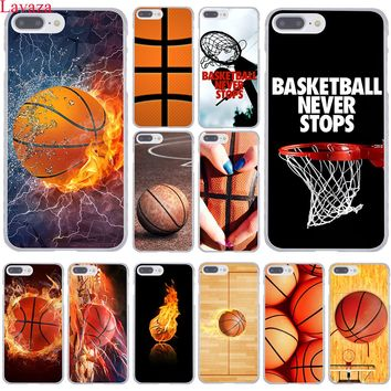 Lavaza Basketball dark Hard Coque Shell Phone Case for Apple iPhone 8 7 6 6S Plus X 10 5 5S SE 5C 4 4S Cover