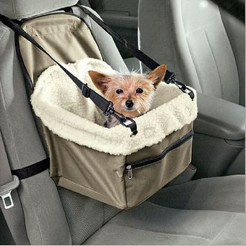 Zipper Hammock Style Pet Dog Carrier With Leash Chihuahua Dog Bag Easy-Fit Dog Car Seat Bag For Dog Cat Bag Stroller For Travel