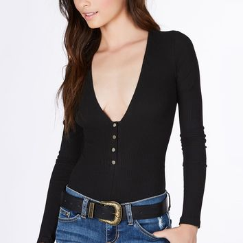 Snappy Ribbed Bodysuit