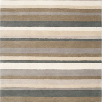 Madison Square Stripes Area Rug Gray