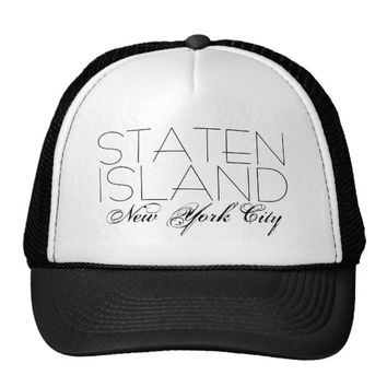 Staten Island New York City customizable Trucker Hat