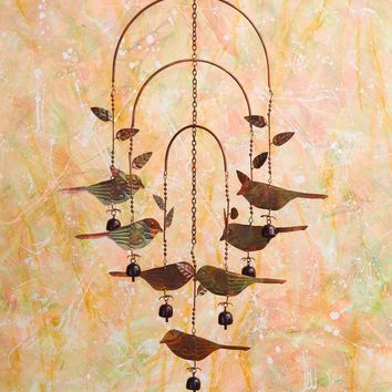Hanging Birds with Bells Mobile Wind Chime