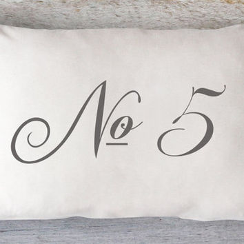 Number 5 Pillow Cover - White Pillow, Farmhouse Pillow, Farmhouse Chic, Industrial Pillow, Christian, 12 x 16, 12 x 18, 12 x 20