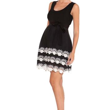 Olian Mia Lace Trim Tank Maternity Dress